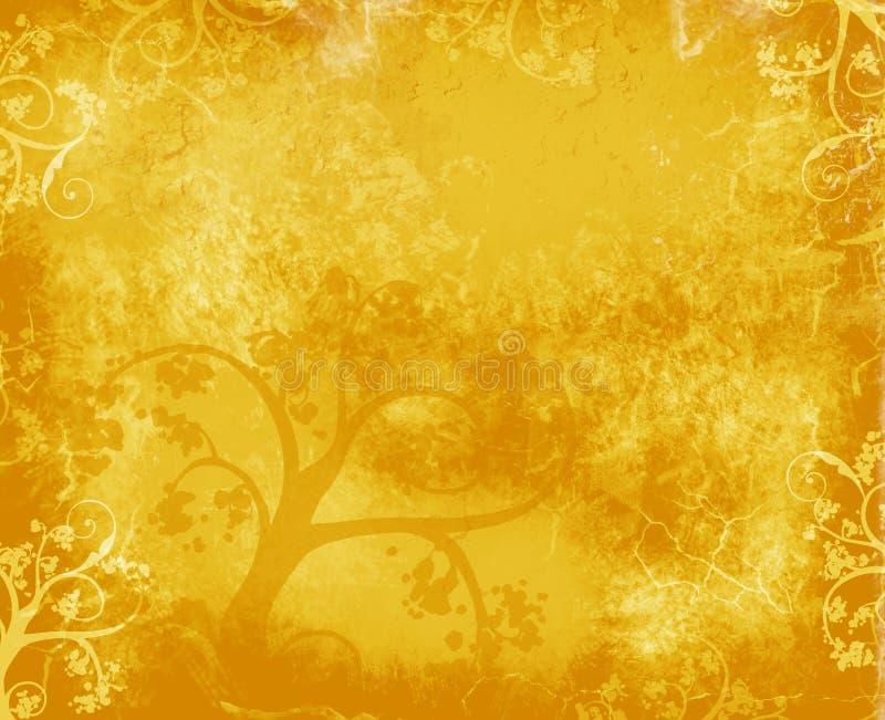Fond d'arbre d'or illustration stock