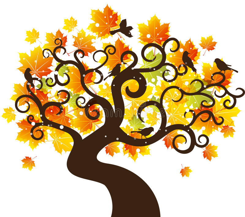Fond d 39 arbre d 39 automne illustration de vecteur photos - Family tree desktop wallpaper ...