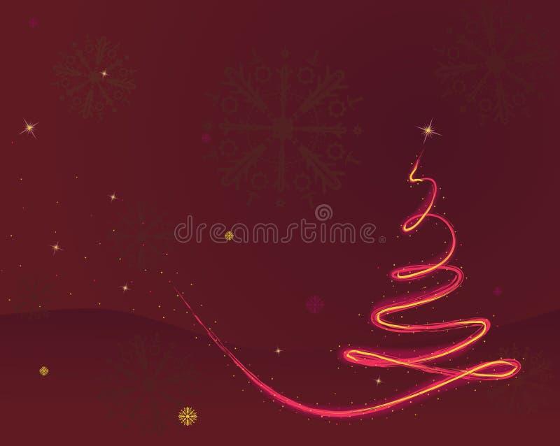 Fond d'arbre de Noël aux rouges illustration stock