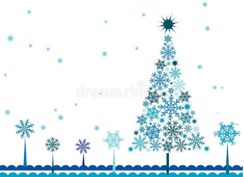 Fond d'arbre de Noël, vecteur illustration de vecteur