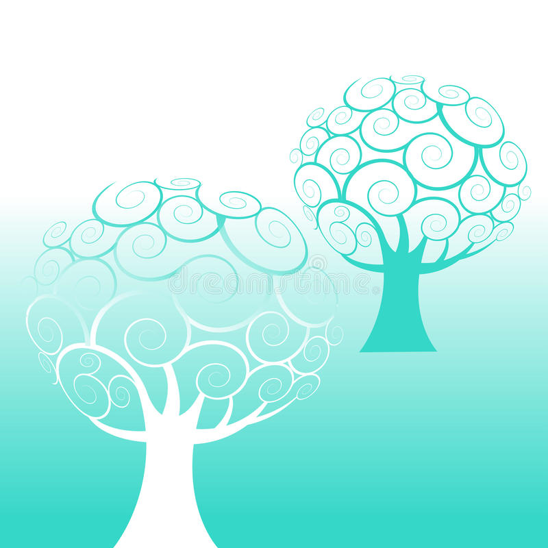 Fond d'arbre de remous illustration stock