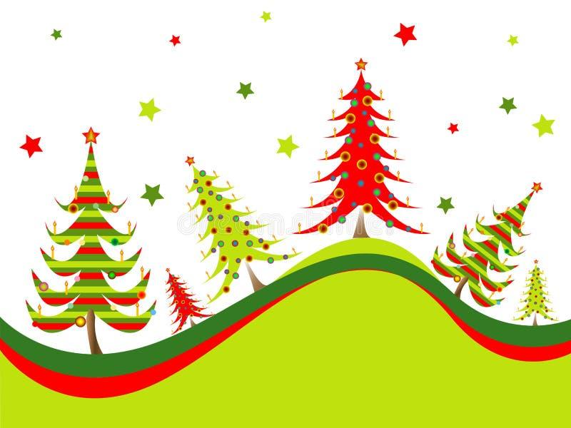 Fond d'arbres de Noël illustration stock