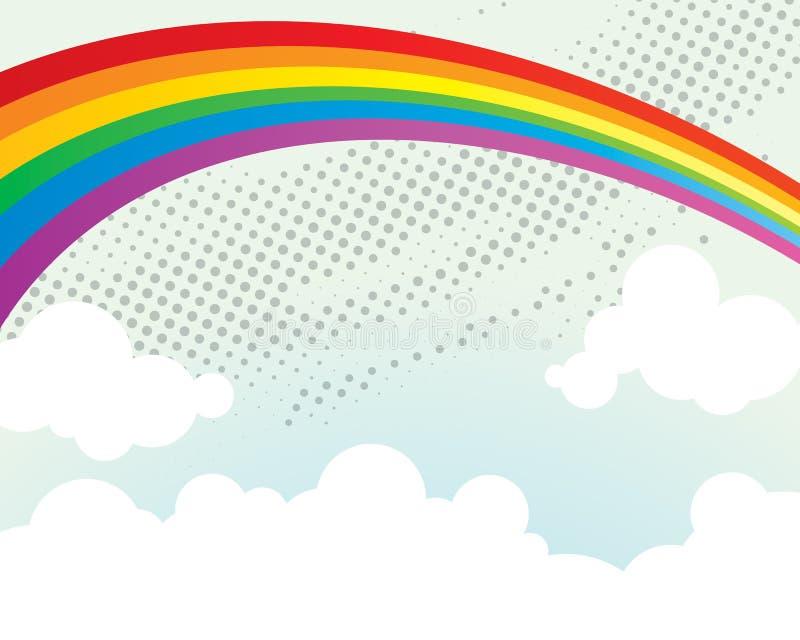 Fond d'arc-en-ciel illustration de vecteur