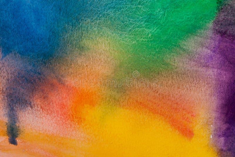 Fond d'arc-en-ciel d'aquarelle image libre de droits