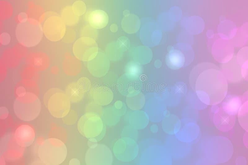 Fond d'arc-en-ciel Texture colorée vive fraîche de fond d'arc-en-ciel d'imagination de résumé avec les lumières defocused de boke illustration de vecteur