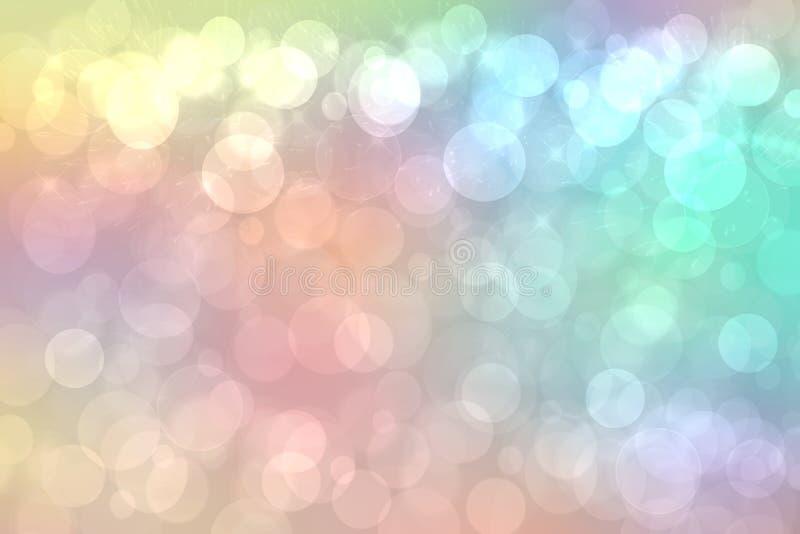 Fond d'arc-en-ciel Texture colorée vive en pastel sensible fraîche de fond d'arc-en-ciel d'imagination de résumé avec les lumière images libres de droits