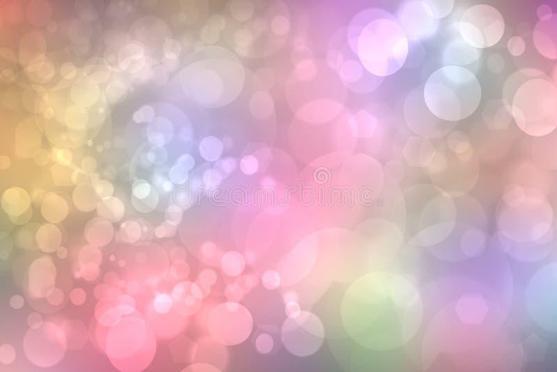 Fond d'arc-en-ciel Texture colorée vive en pastel sensible fraîche de fond d'arc-en-ciel d'imagination de résumé avec les lumière illustration de vecteur