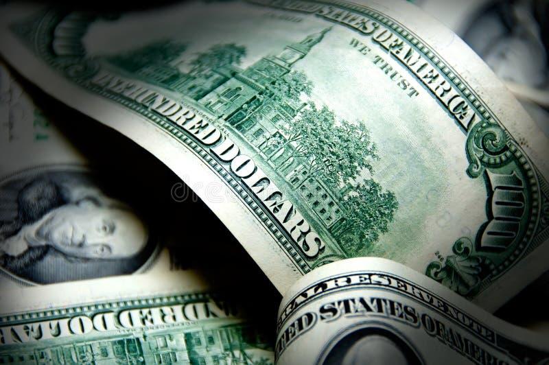 Fond d'argent de cents dollars images libres de droits