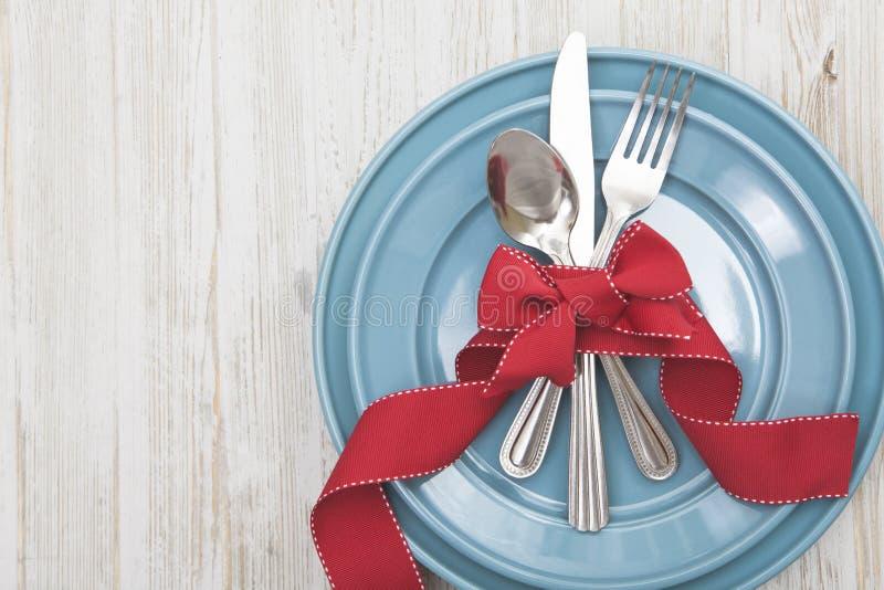 Fond d'arrangement de Tableau de repas de Noël photo libre de droits