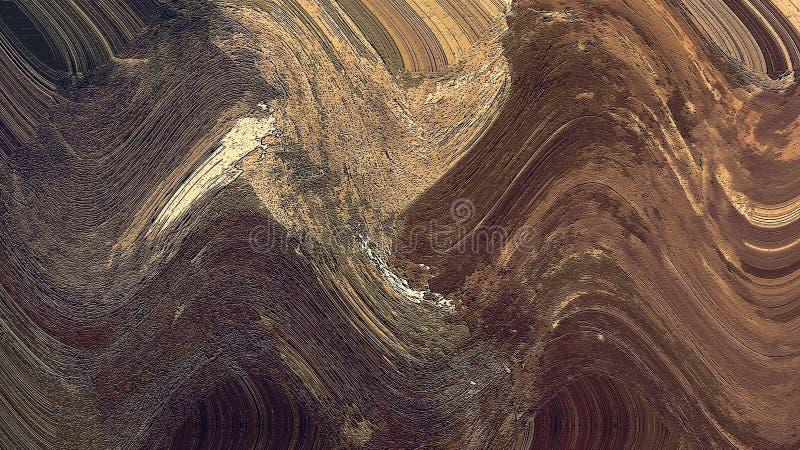 Fond d'art abstrait Peinture à l'huile initiale sur la toile Fragment d'illustration Courses de pinceau Art Texture moderne peint illustration libre de droits