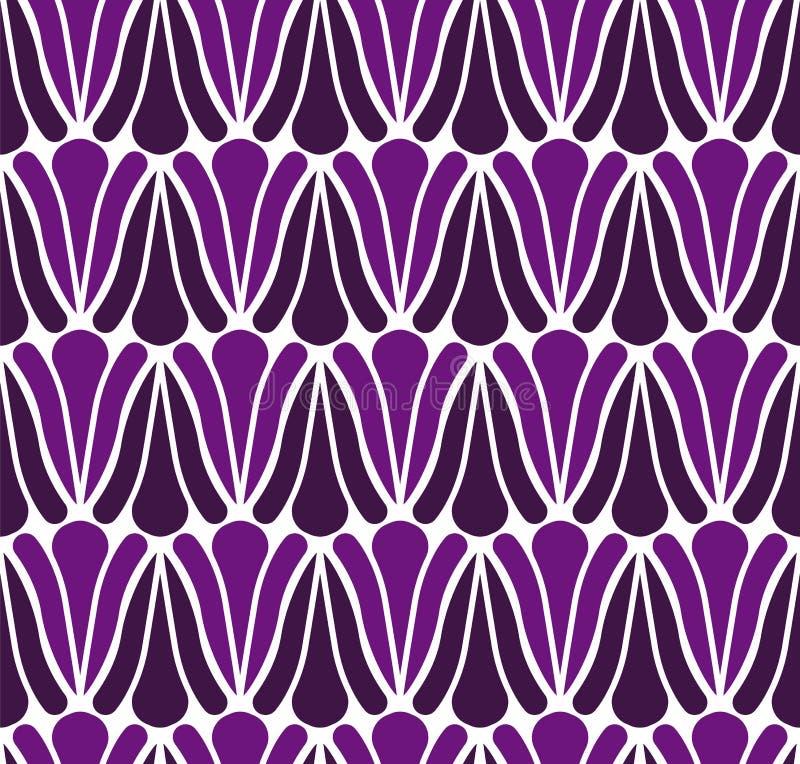 Fond d'Art Deco Flower Seamless Pattern Texture décorative géométrique illustration de vecteur