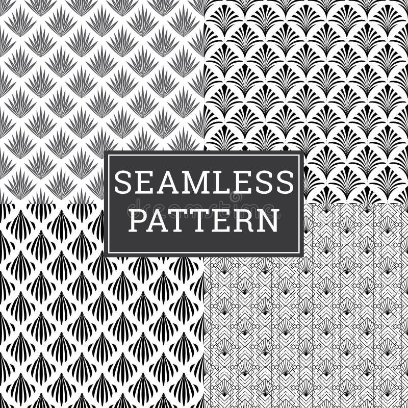 Fond d'Art Deco Seamless Pattern Decorative illustration de vecteur