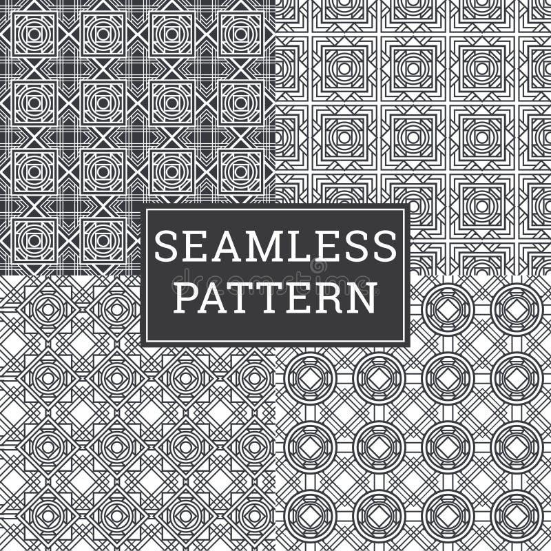 Fond d'Art Deco Seamless Pattern Decorative illustration libre de droits