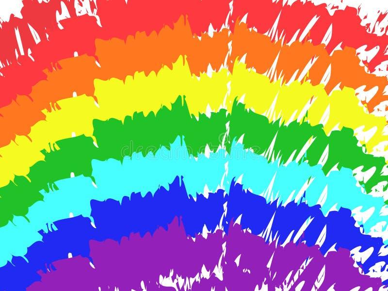 Fond d'aspiration de peinture de course de brosse de couleur d'arc-en-ciel d'art illustration libre de droits