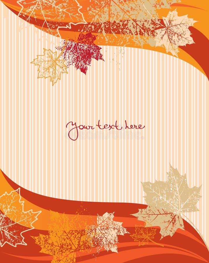 Fond d'automne illustration de vecteur