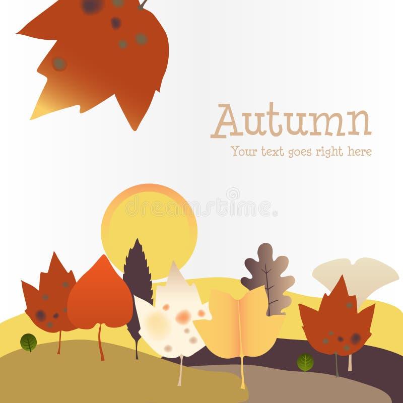 Download Fond D'automne Avec La Lune De Récolte Illustration de Vecteur - Illustration du vecteur, retrait: 45359185