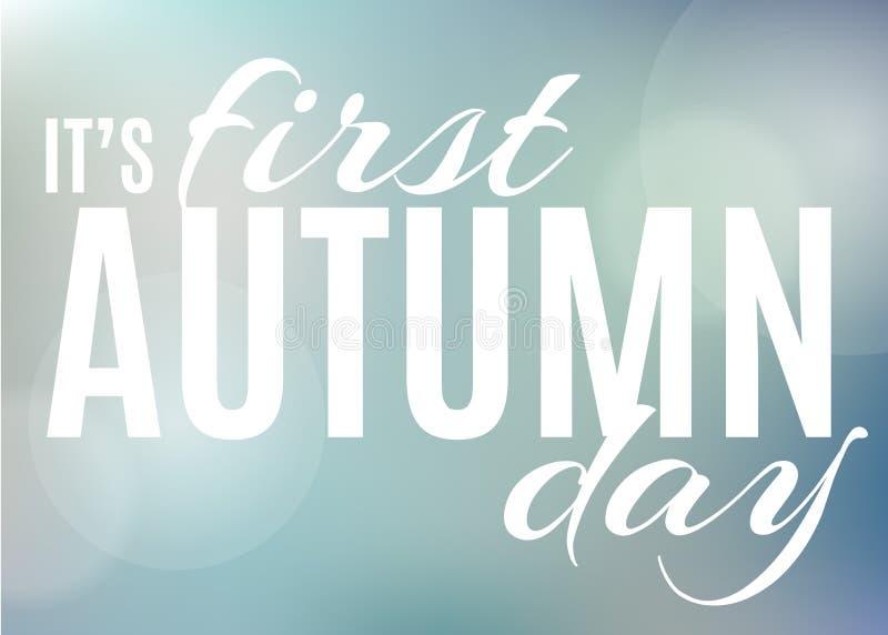 Fond d'automne avec le texte illustration libre de droits