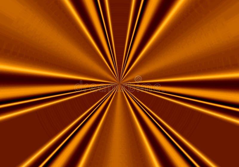 Fond d'or avec des raies et la texture, mouvement illustration de vecteur