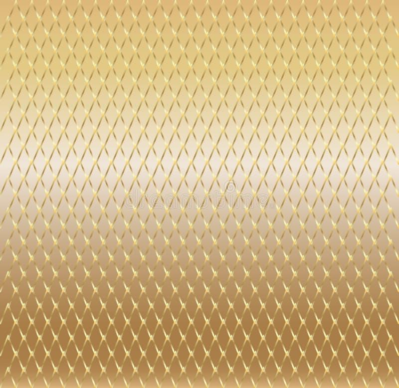 Fond d'or avec la maille illustration libre de droits