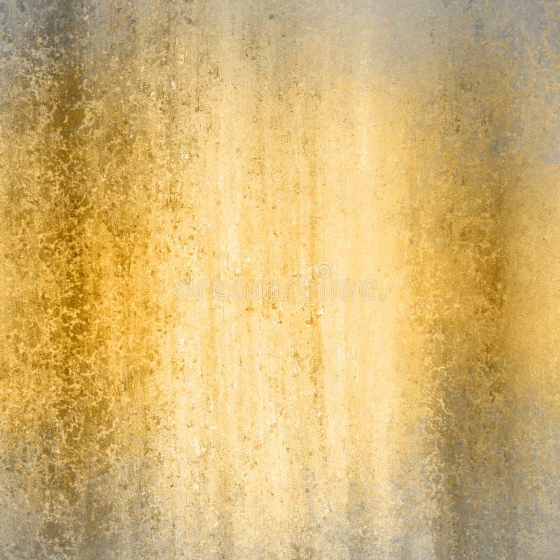Fond d'or avec le cadre gris photographie stock