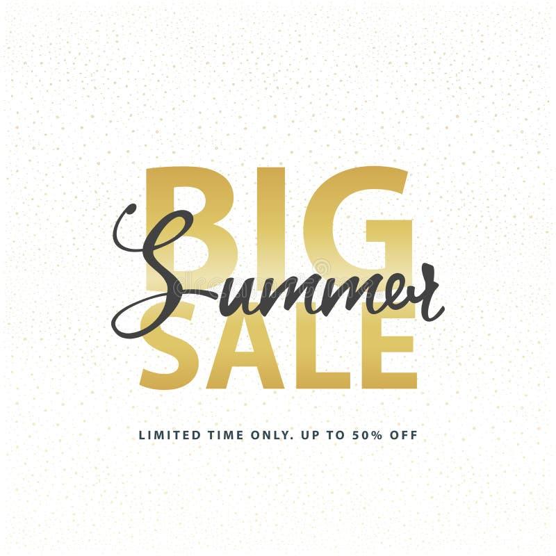 Fond d'or blanc de scintillement de grand d'été de vente connexion d'or Illustration de calibre de bannière de Web de vecteur illustration libre de droits