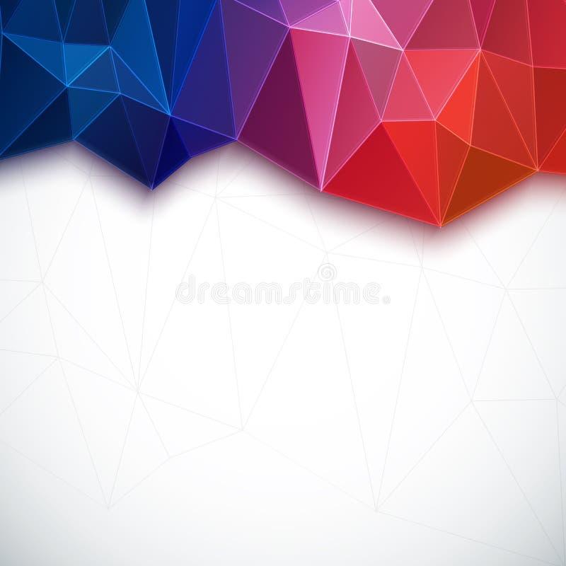 Fond 3D coloré géométrique abstrait. illustration de vecteur
