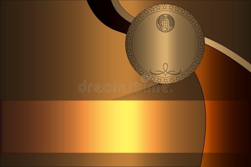 Fond d'or créateur. illustration de vecteur