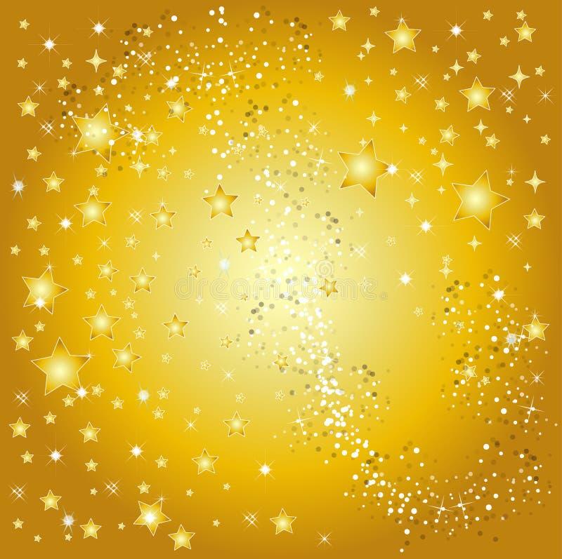 Fond d'or d'étoile illustration libre de droits