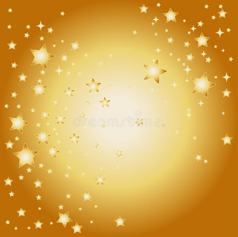 Fond d'or d'étoile illustration stock
