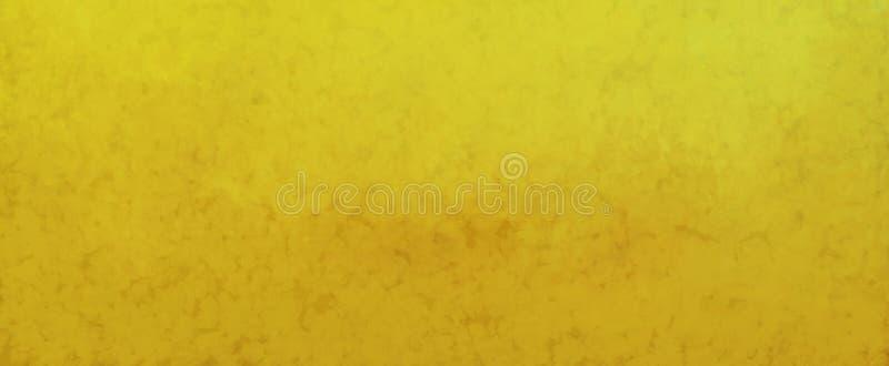 Fond d'or de brun de cru avec la texture grunge tachetée et affligée brouillée dans la vieille conception abstraite illustration de vecteur