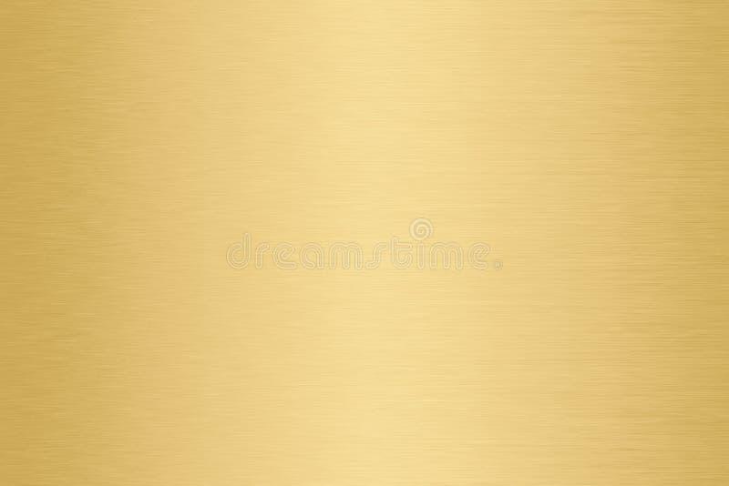 Or, fond d'or de gradient en métal photographie stock libre de droits