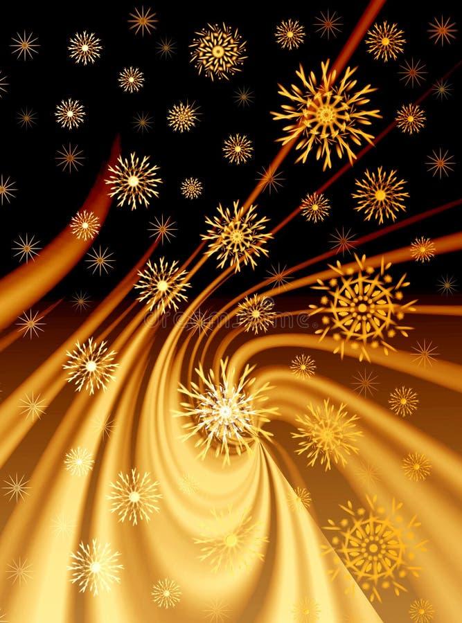 Fond d'or de Noël illustration de vecteur