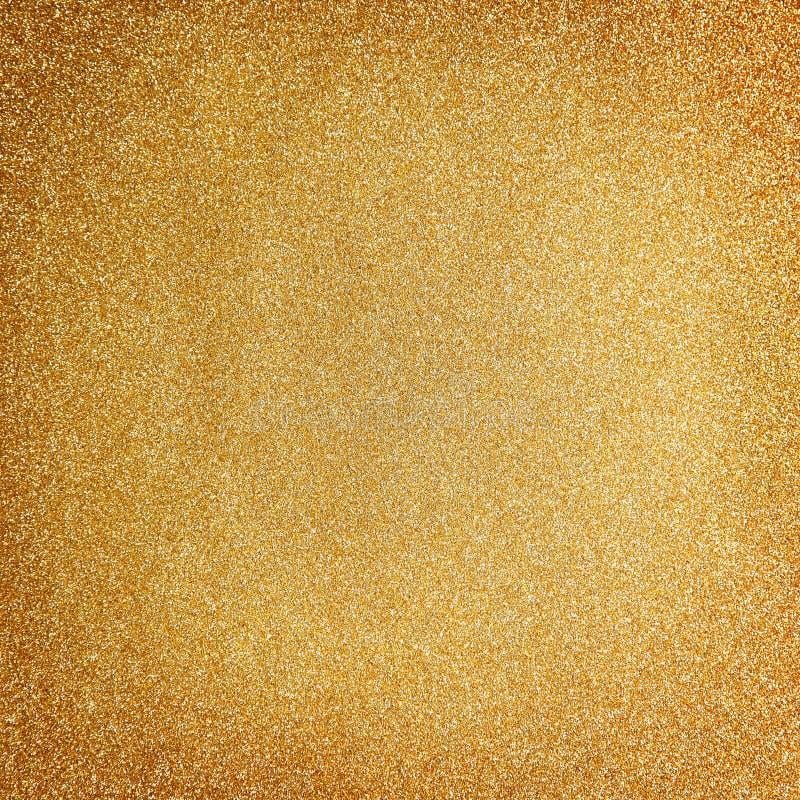 Fond d'or de Noël de scintillement photo libre de droits