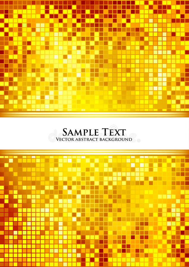 Fond d'or de Pixel illustration stock