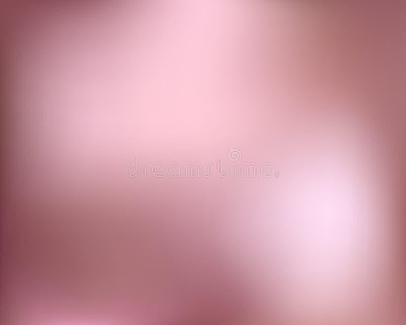Fond d'or de Rose Gradient l?ger abstrait en m?tal d'or Illustration brouill?e par vecteur illustration libre de droits