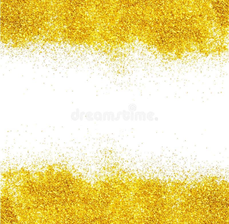 Fond d'or de scintillement images stock