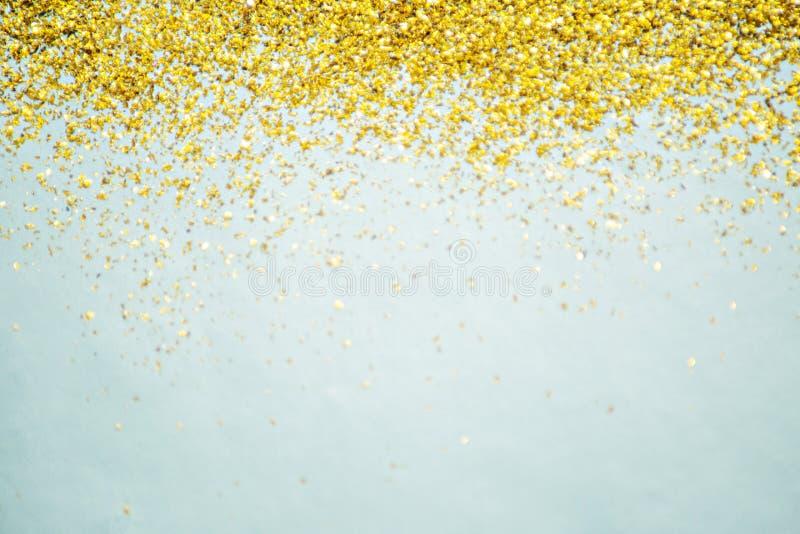 Fond d'or de scintillement photos stock