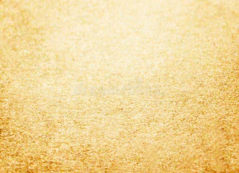 Fond d'or de scintillement de nouvelle année de Noël Tissu abstrait de texture de vacances Élément, éclair photographie stock libre de droits