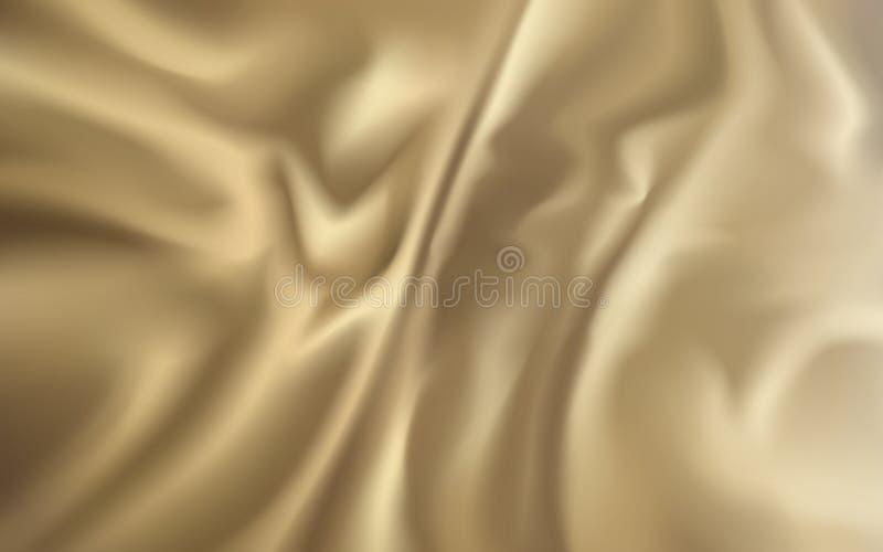 Fond d'or de tissu illustration libre de droits