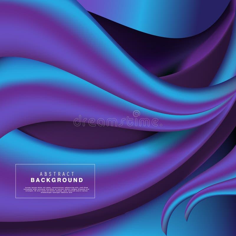 Fond 3D dynamique avec l'idéal moderne de concept de formes liquides pour la bannière, Web illustration de vecteur