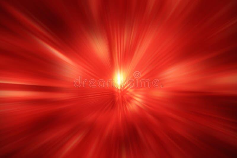 Fond d'effet de bourdonnement de lumière rouge, technologie numérique de puissance d'éclairage de gradient de concept radial colo photos libres de droits