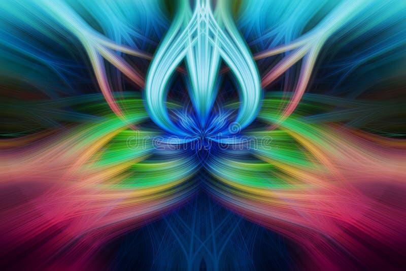 Fond d'effet tordu par résumé coloré de fibres légères illustration libre de droits