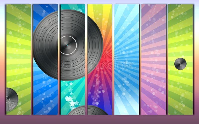 Fond d'enregistrement de vinyle illustration de vecteur