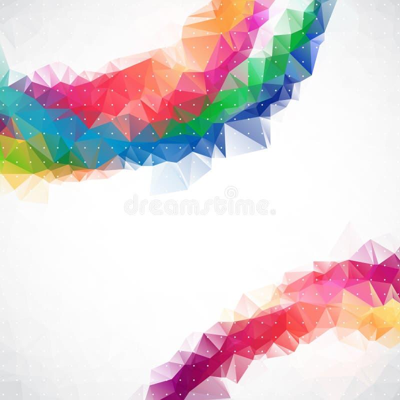 Fond d'entreprise de triangle abstraite d'affaires illustration stock