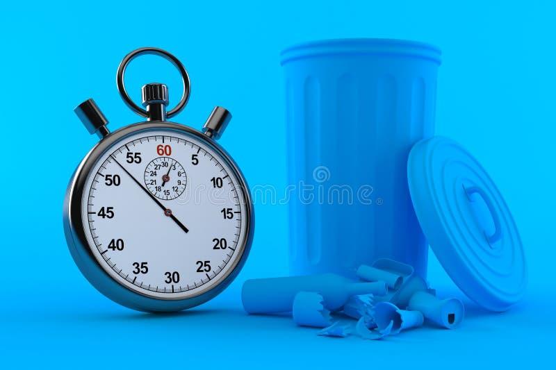 Fond d'environnement avec le chronomètre illustration de vecteur