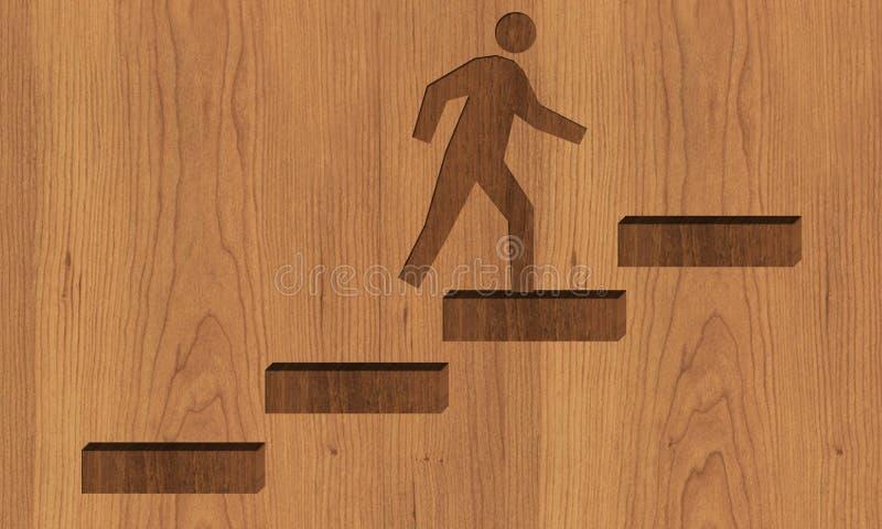 Fond d'escaliers de carrière avec l'homme photo libre de droits