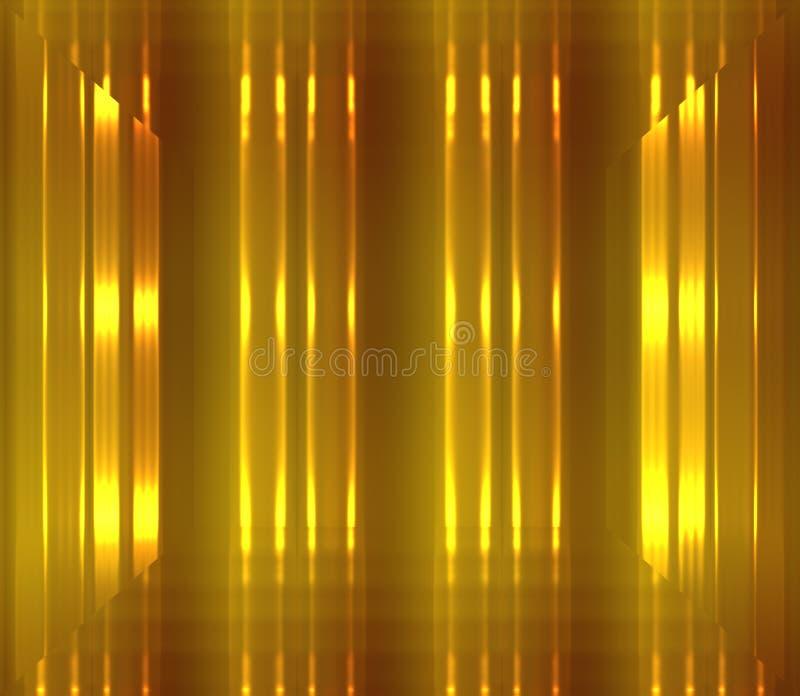 Fond d'or et brun avec la lumière et l'effet 3d rougeoyants illustration stock
