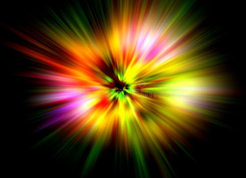 Fond d'explosion de couleur illustration de vecteur