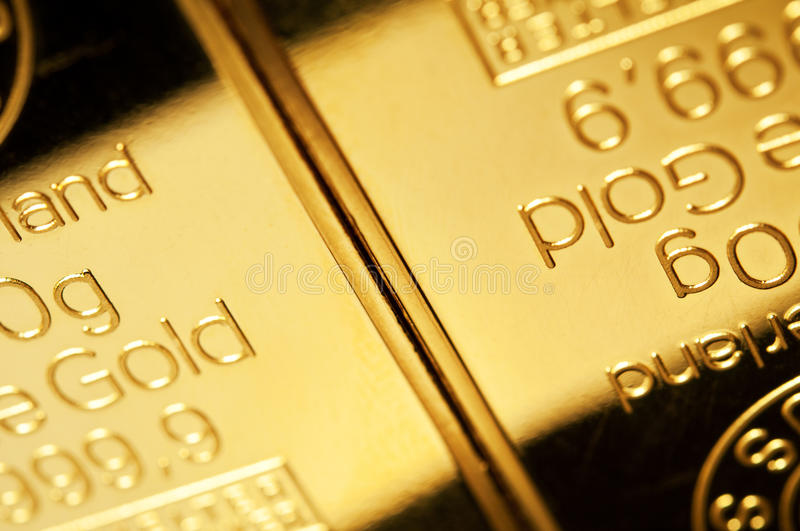 Fond d'or fin image stock