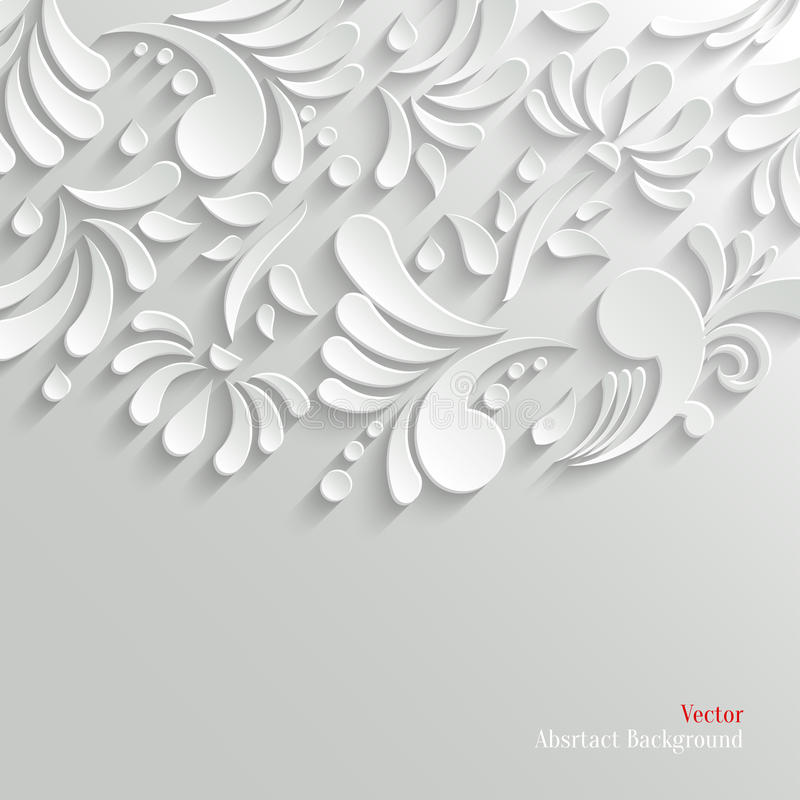 Fond 3d floral abstrait illustration stock